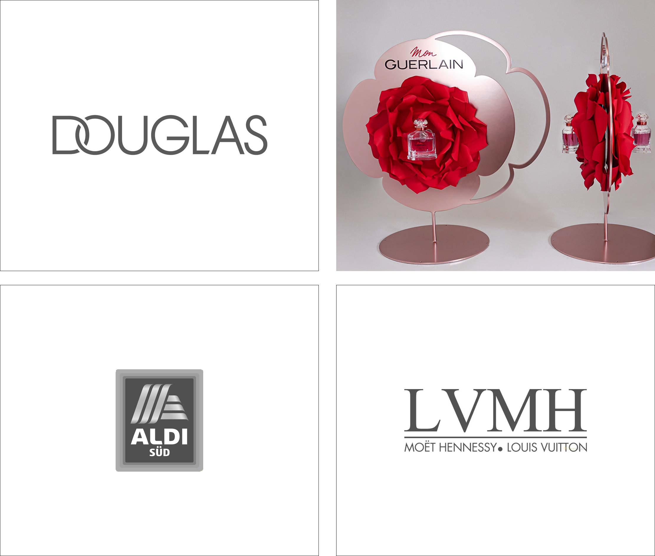 Logo - Douglas, ALDI, LVMH