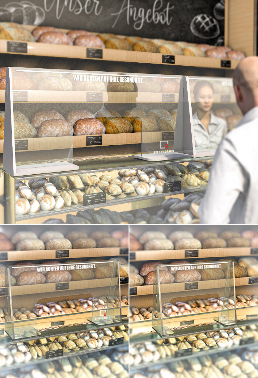 Nies- und Tropfschutz Bäckerei